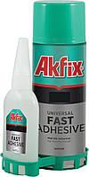 Akfix 705 - двухкомпонентный клей акфикс 705, универсальный супер клей + активатор, 50 г + 200 мл