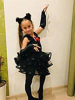 Детский карнавальный костюм Черная кошка, рост 98-122