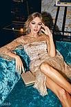 Короткое вечернее платье с золотистой россыпью и пайетками, фото 5