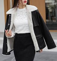 Жіноча зимова куртка-дублянка. Модель 8306, фото 6