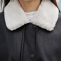 Жіноча зимова куртка-дублянка. Модель 8306, фото 10