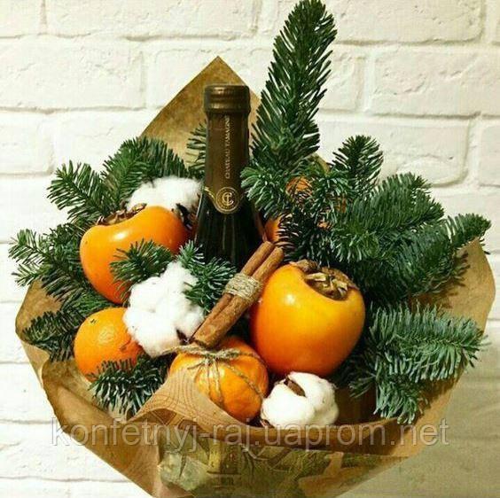 Замовити букет із фруктів на новий рік в Харкові