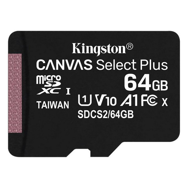 Картка пам'яті MicroSDXC 64Gb Kingston class 10 Canvas Select Plus SDCS2/64GBSP