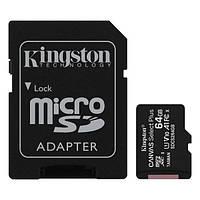 Карта памяті MicroSDXC 64Gb class 10 (SD адаптер) Kingston Canvas Select Plus SDCS2/64GB