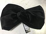 Широкая повязка-чалма из велюра  цвет чёрная, фото 2