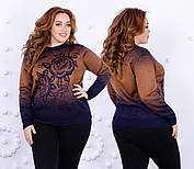 Супер тёплый свитер из трикотажа на меху 48-52 размер, фото 2
