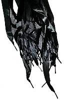 Шнурки плоские атласные Черные 15мм 100см