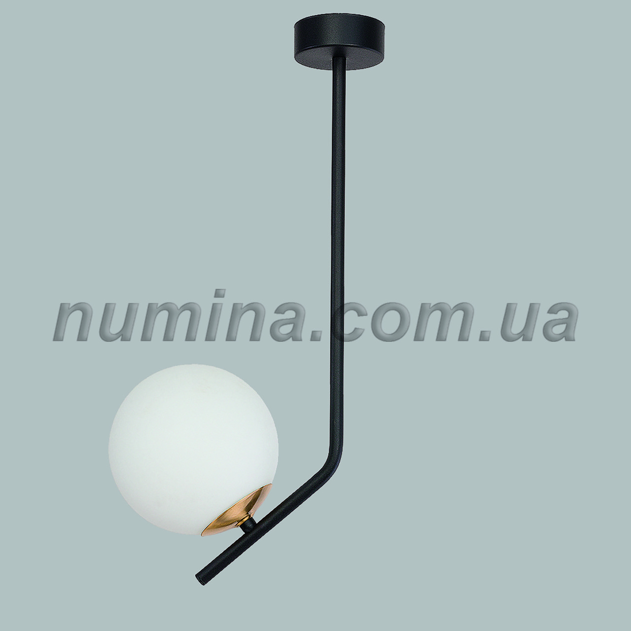 Люстра подвесная на одну лампу 29-S251/1B BR+FGD+WT