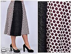 Женская юбка-трапеция  из ангоры  батал 54 и 56 размер, фото 3