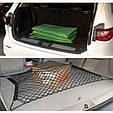Универсальная СЕТКА в багажник автомобиля с крючками ( 110 х 60 см ), фото 2