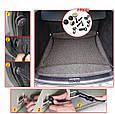 Универсальная СЕТКА в багажник автомобиля с крючками ( 110 х 60 см ), фото 4