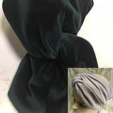 Широкая повязка-чалма из эко замши  цвет белая, фото 3