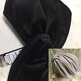 Широкая повязка-чалма из эко замши  цвет белая, фото 5