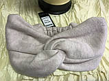 Широкая повязка-чалма из эко замши  цвет белая, фото 9