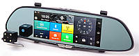 "Зеркало видеорегистратор RIAS D36 7"" сенсор 2 камеры GPS WiFi 16Gb 3G (4_00039)"