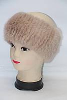 Женская теплая норковая повязка на голову