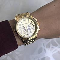 Женские наручные часы металлические в стиле майкл корс золотистые