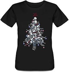 Женская футболка Pile o' Bones (чёрная)