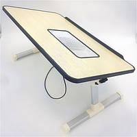 Столик для ноутбука с кулером Подставка охлаждающая трансформер E-Table A8