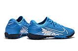 Сороконожки Nike Mercurial Vapor XIII Pro TF blue, фото 2