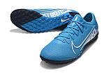 Сороконожки Nike Mercurial Vapor XIII Pro TF blue, фото 3