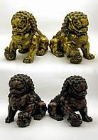 "Статуэтка ""Пара Львов"" бронза (размер одного льва 18х13х22 см вес 3,32 кг)"