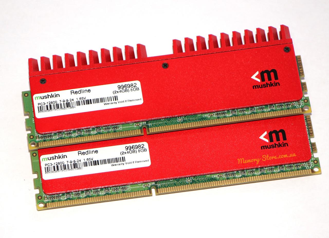 Оперативная память для ПК Mushkin Redline DDR3 2x4Gb PC3-12800 1600MHz Intel и AMD, б/у