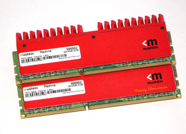 Оперативная память для ПК Mushkin Redline DDR3 2x4Gb PC3-12800 1600MHz Intel и AMD, б/у, фото 2