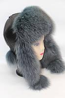 Женская модная шапка ушанка из песца