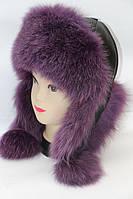 Женская зимняя шапка ушанка мех песца