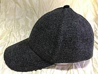 Бейсболка из шерстяного серого драпа размер 56-60