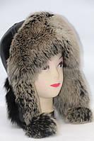 Натуральная женская шапка ушанка из меха песца