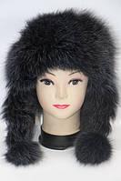 Жіноча хутрова шапка вушанка - песець, фото 1