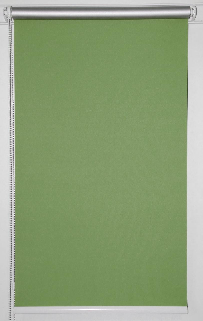 Готовые рулонные шторы 950*1500 Ткань Блэкаут Сильвер Зелёный