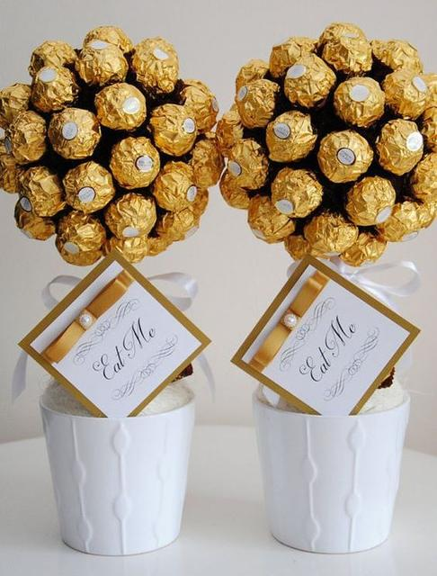 Букети з цукерок Ferrero Rosher і Raffaello