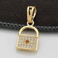 Кулон подвеска Xuping Jewelry Маленький замочек медицинское золото, позолота 18К. А/В 4626