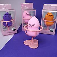 Спонж для макияжа грушевидной формы на подставке Powder Puff Qianlili