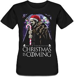Женская футболка Game Of Thrones - Brace Yourselves Christmas Is Coming (чёрная)