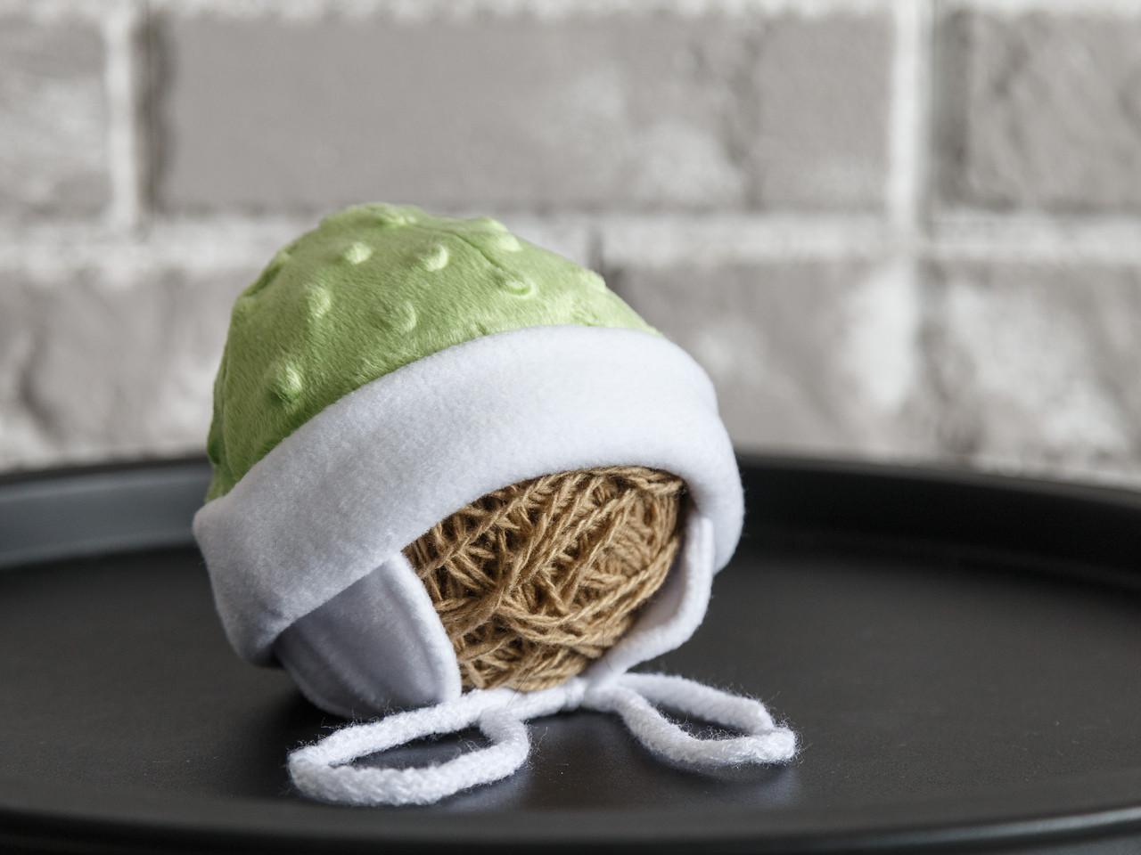 "Плюшевая шапочка ""Newborn"", салатовая"