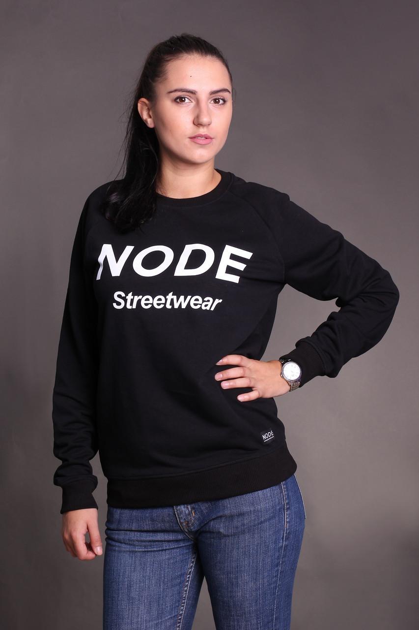 Свитшот Node classic oversize, черный женский свитшот с принтом