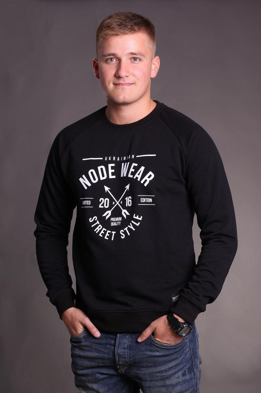 Свитшот Node vintage oversize, черный мужской свитшот