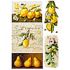 Бумага для декупажа 21х30 см Лимоны
