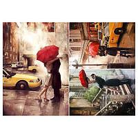 Бумага для декупажа 21х30 см Пары под красным зонтом