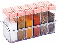 Кухонная подставка с емкостями для специй Seasoning Six Piece Set 6 шт. (2_007493)
