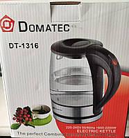 Стеклянный электрический чайник Domotec DT-1316 (2_007707)