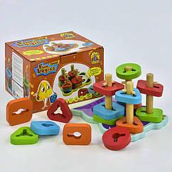 Развивающая игрушка Пирамидка-Сортер FUN GAME (7380) деревянная