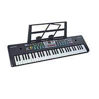 Музыкальный синтезатор 61 клавиша, 16 тонов, USB, микрофон