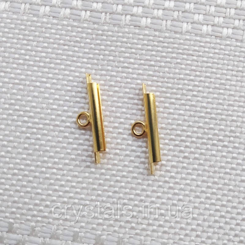 Концевики-слайдеры Miyuki для бисерного полотна, 15 мм, 2 шт., позолота