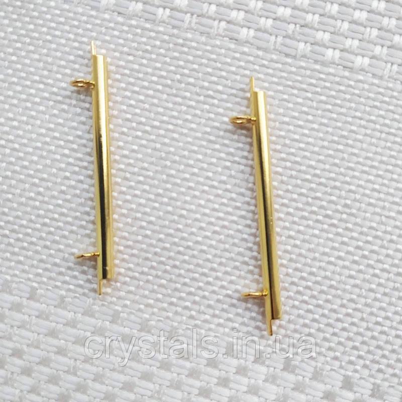 Концевики-слайдеры Miyuki для бисерного полотна, 35 мм, 2 шт., позолота