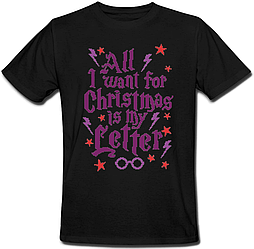 Футболка All I Want For Christmas Is My Letter (чёрная)